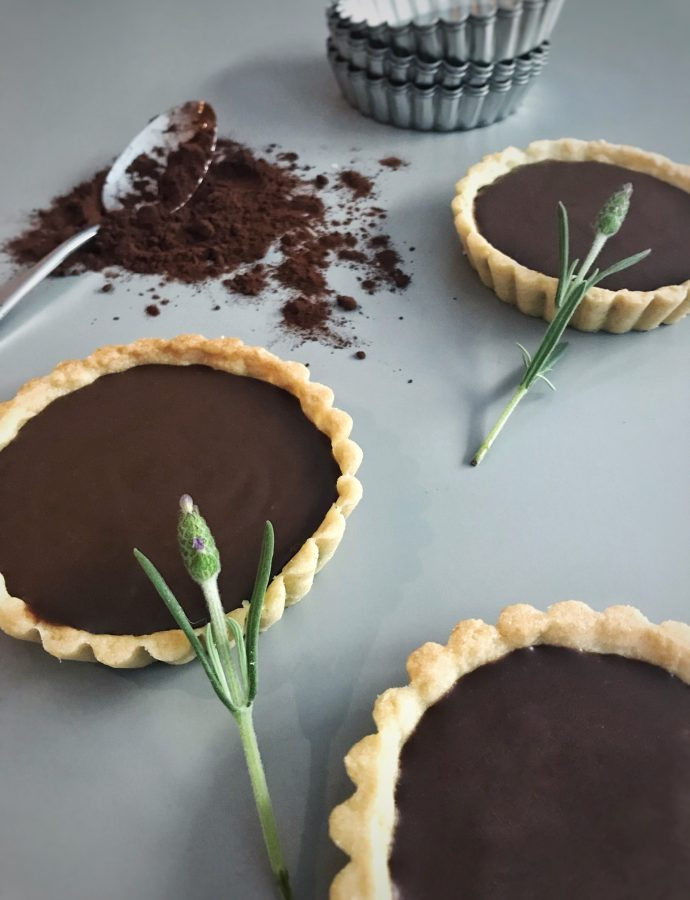 Chocolate and Lavender Tartlets