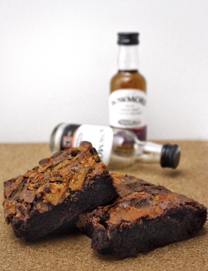 Boozy Toffee Brownies